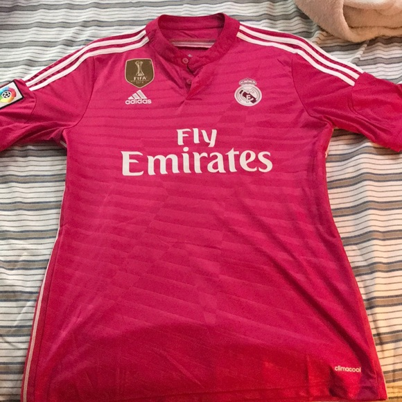 free shipping e81fd 6e884 bale pink Real Madrid soccer jersey